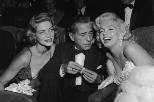Ciro's Humphry Bogart, Lauren Bacal and Marylin Monrow at Ciro's